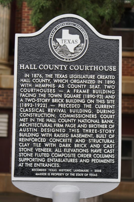 Hall County Courthouse | Texas County Courthouses